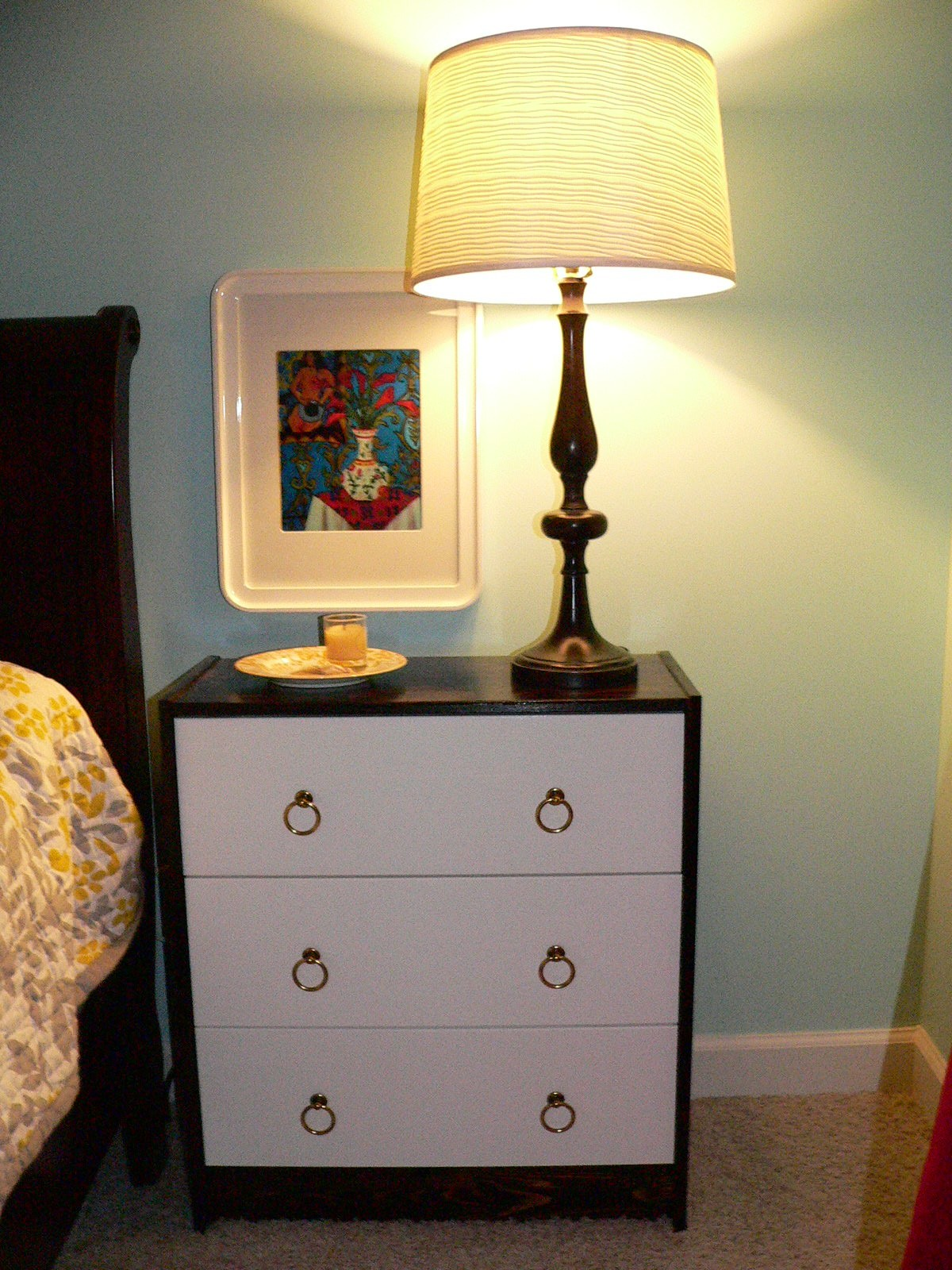 my first ikea hack rast sidetable makeover swoonobsessed. Black Bedroom Furniture Sets. Home Design Ideas